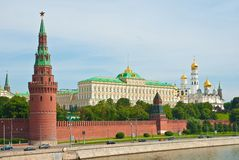 View of the Kremlin, Moscow, Russia Royalty Free Stock Photo