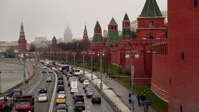 View of the Kremlin in Moscow stock footage