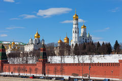 View of the Kremlin in Moscow Stock Photography