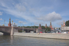 View of the Kremlin from the Moskva River by Vasilevsky descent Stock Image