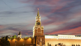 View of the Kremlin at night, Red Square, Moscow, Russia--the most popular view of Moscow Royalty Free Stock Photos