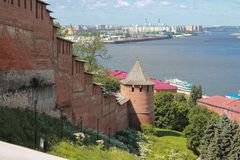 View of the Kremlin in Nizhny Novgorod Royalty Free Stock Photography