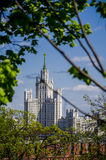 View from Kremlin Palace to Foreign ministry building at Moskva river, Moscow, Russia Stock Photography