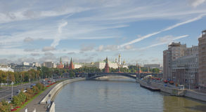 View of the Kremlin from the Patriarchal bridge Stock Photography