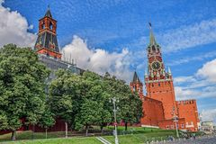 The view of the Kremlin from Red Square, Moscow