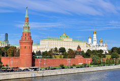 View of the Kremlin and riverside of Moscow city centre Stock Image