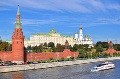 View of the Kremlin and riverside of Moscow city centre Stock Photos
