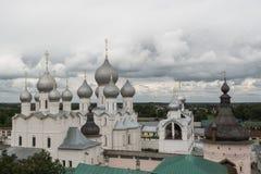 The view of the kremlin in Rostov stock image