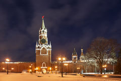 View from the Kremlin territory on the Spasskaya Tower, Moscow Stock Photos