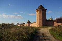 View of the Kremlin wall in Suzdal Royalty Free Stock Image