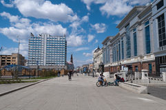 View of Kremlyovskaya street. Kazan. Russia Royalty Free Stock Image