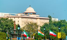 View of Krishi Bhavan, a governmental building in New Delhi, India. View of Krishi Bhavan, a governmental building in New Delhi, the capital of India Stock Image