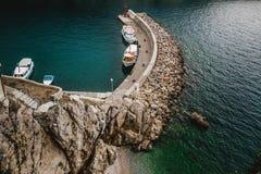 View krk island kroatia stock photo