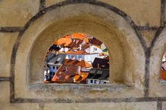 View on Krumlov in Bohemia Royalty Free Stock Image