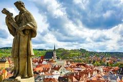 View on Krumlov in Bohemia Stock Image