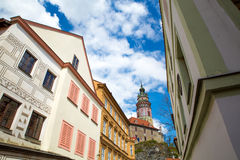 View on the Krumlov Castle Stock Photography