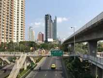 View from Krung Thonburi BTS Station Stock Image