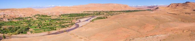 View from Ksar of Ajt Bin Haddu, Morocco Stock Photography