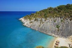 View of Ksigia beach on Zakynthos island royalty free stock images
