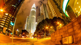 View on Kuala Lumpur at night Stock Photo