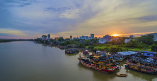 View of Kuantan Town, Kuantan, Pahang Malaysia at dusk Stock Image