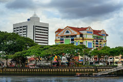 View of Kuching city waterfront Stock Image