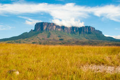 View of Kukenan Tepui, Gran Sabana, Venezuela Stock Photos