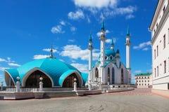 View of the Kul Sharif. (Qolsherif, Kol Sharif, Qol Sharif, Qolsarif) Mosque in Kazan Kremlin royalty free stock images