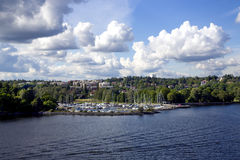 View of Kungsholmen island Royalty Free Stock Image