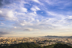 View of kunming city. Kunming is the capital city of yunnan province, about 500 million people live in here Royalty Free Stock Image