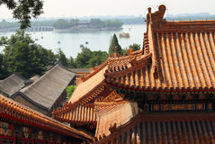 View of Kunming lake from Longevity Hill in Summe Palace Yiheyuan, Beijing, China Stock Image