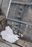 The view of Kurobe Dam. The Kurobe Dam or Kuroyon Dam is a variable-radius arch dam on the Kurobe River in Toyama Prefecture Royalty Free Stock Photo