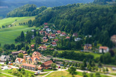 View Kurort Rathen. Saxon Switzerland Royalty Free Stock Photos