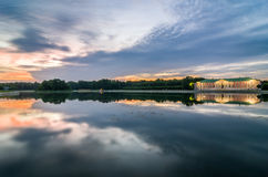 View of Kuskovo park at sunset. HDR image. Moscow, Russia. Stock Photography