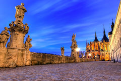 View of Kutna Hora with Saint Barbara's Church Stock Photo
