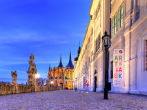 View of Kutna Hora with Saint Barbara& x27;s Church Royalty Free Stock Images