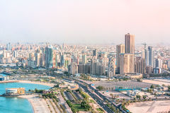 VIEW OF KUWAIT CITY. SHOT FROM KUWAIT TOWERS, KUWAIT Royalty Free Stock Photography