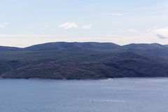 View on the Kvarner Gulf stock photography