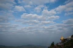 View of Kyaikhtiyo Pagoda. Stock Photo