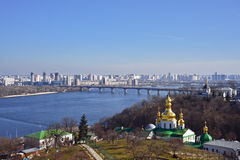 View of Kyiv from Kyiv Pechersk Lavra Stock Image