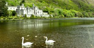 Kylemore Abbey Connemara Galway, Ireland. View of Kylemore Abbey in Connemara Galway, Ireland royalty free stock photos
