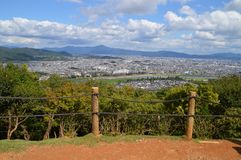 View On Kyoto From Arashiyama Japan. Mountain And A Big City Royalty Free Stock Photo