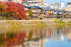 View of kyoto city in autumn Stock Images