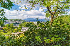 View on Kyoto city from Ginkakuji Silver Pavilion Stock Image