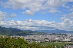 View On Kyoto Seen From Arashiyama Japan.  Royalty Free Stock Photo