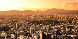 View of Kyoto at sunset, Japan Royalty Free Stock Photography