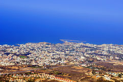 View Kyrenia from St Hilarion Royalty Free Stock Photography