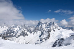 View from L'Aguille du Midi Stock Image