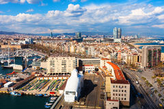 View of La Barceloneta. Barcelona Stock Photo