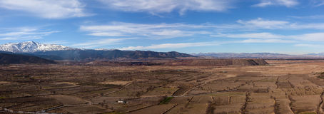 View from La Calahorra fortress Royalty Free Stock Photos